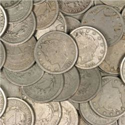 (100) V Nickels from Photo - AG-VG