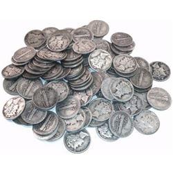 (50) Mercury Dimes- Random 90% Silver