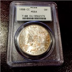1880 Carson City MS 64 PCGS - Key Date Morgan