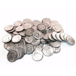 (50 pcs) 90% Silver Kennedy Half Dollars 90%