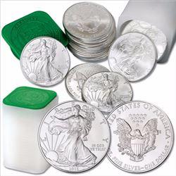 (40) US Silver Eagles - Mint Tubed Random
