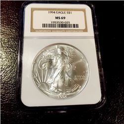 1994 MS 69 NGC Better Date US Silver Eagle