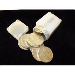(20) Peace Silver Dollars in Tube- ag-au