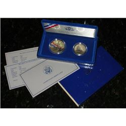 1986 Statue Of Liberty Proof 2 pc. Set