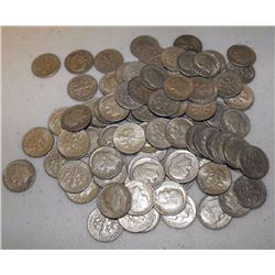 Lot of 100 90% Silver Roosevelt Dimes