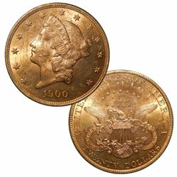 1900 $ 20 Gold Liberty Double Eagle