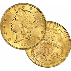 1904 $ 20 Gold Liberty Double Eagle