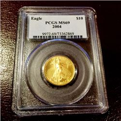 2004 MS 69 PCGS $ 10 Gold Eagle