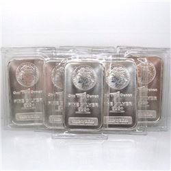 (8) 1 oz. Silver Bars- Morgan Design