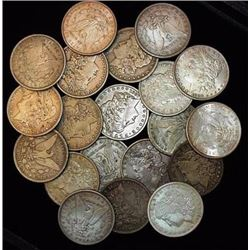 Lot of (20) Morgan Silver Dollars-F-XF