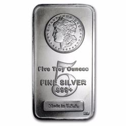 5 oz. Morgan Design Silver Bar - Pure