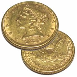 1882 P $ 5 Gold Liberty Half Eagle