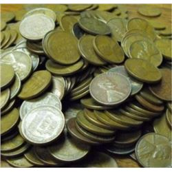 Lot of 400 Wheat Cents -
