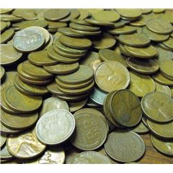 Lot of 300 Wheat Cents -
