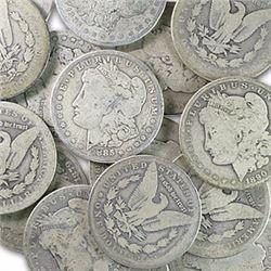Lot of (20) Morgan Silver Dollars -ag-vg