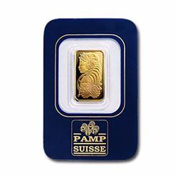 $2.5 Gram Pamp Suisse Gold Ingot 999.9