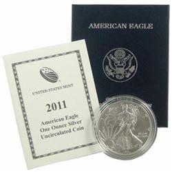 2011 W Burnished US Silver Eagle