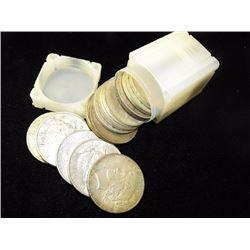(20) Peace Silver Dollars in Tube- ag-vg