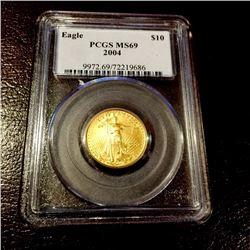 2004 MS 69 $ 10 Gold Eagle PCGS Quarter Eagle