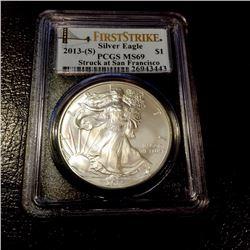 2013 S MS 69 US Silver Eagle PCGS