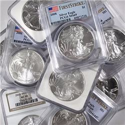(10) MS 69 US Silver Eagles PCGS/NGC