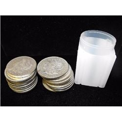 (20) Morgan Silver Dollars - ag-vg- In Tube