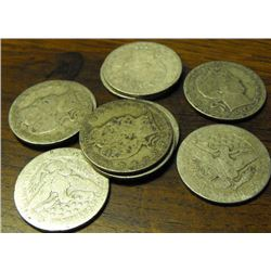 Lot of 10 Barber Quarters