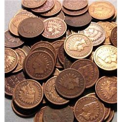 Lot of 50 Indian Head Pennies-goods