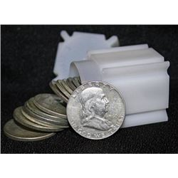 Roll of Franklin Half Dollars- 90%