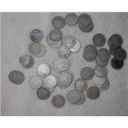 Lot of 50 V Liberty Nickels- Circulated