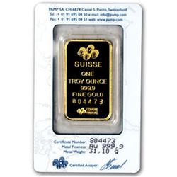 Pamp/Credit  Suisse 1 oz. Gold Bar