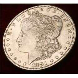 1881-o Uncirculated Morgan Silver Dollar