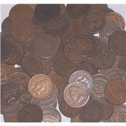 Lot of 50 Indian Head Pennies-goods