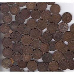 Lot of 150 Indian Head Pennies-goods