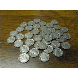 Lot of  40 Buffalo Nickels-