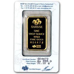 Pamp Suisse 1 OZ. Gold Ingot-