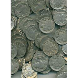 Lot of 60 Buffalo Nickels- Readable Date