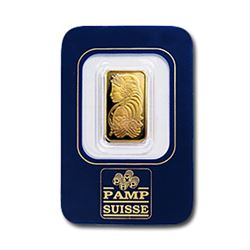 PAMP 2.5 gram Gold Bar 999.9 with Assay Cert.