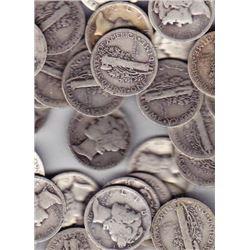Lot of 20 Mercury Dimes