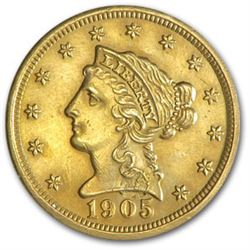 A $ 2.5 Dollar Gold US Minted Coin