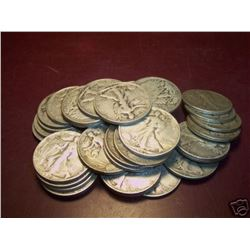 Lot of 25 Walking Liberty Halves-