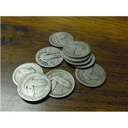 Lot of 10 Standing Liberty Quarters-