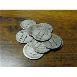 Lot of 10 Standing Liberty Quarters