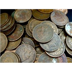 Lot of 100 Indian Head Cents- Circulated