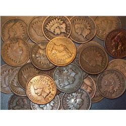 Lot of 100 Indian Head Pennies-goods