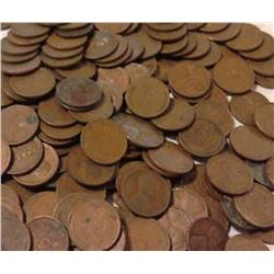 A Bag with 100 Wheat  Back Pennies-