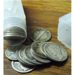 Roll Of Average Circulated Mercury Dimes