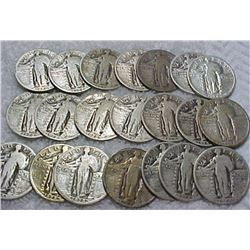 Lot of 20 Standing Liberty Quarters