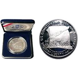1987 Constitution Proof Silver Dollar-Gem Proof