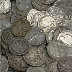 Lot of 100 Walking Liberty Half Dollars-